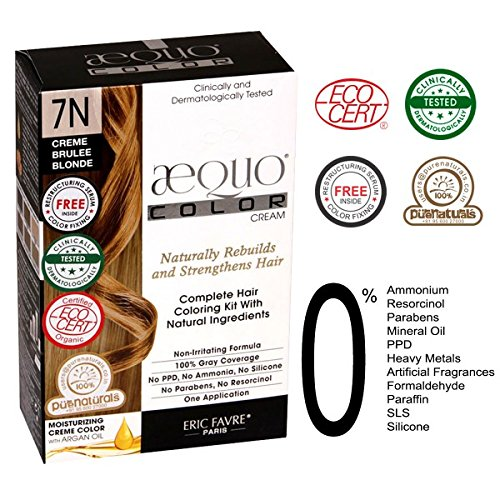 Aequo Color Cream Kit 7N Creme Brulee Blonde (Best Creme Brulee In Paris)
