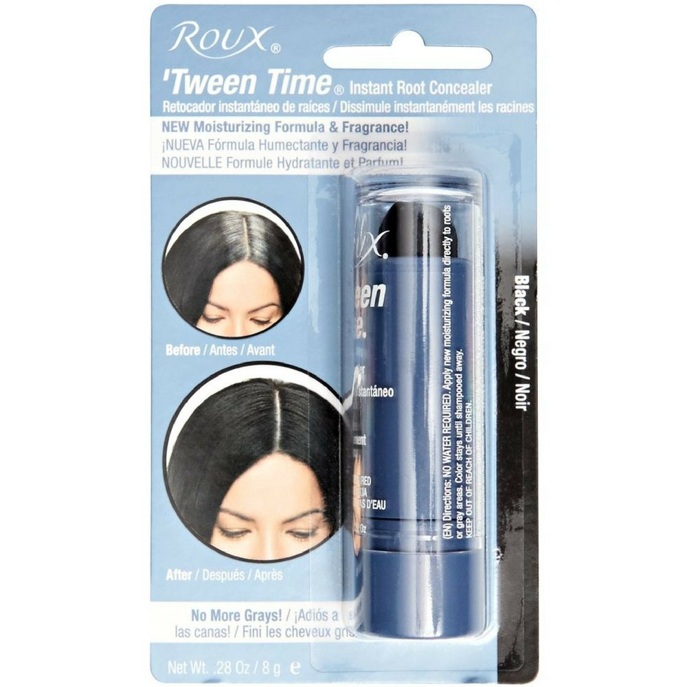Roux 'Tween Time Instant Root Concealer, Black 1 ea (Pack of 2) by Roux
