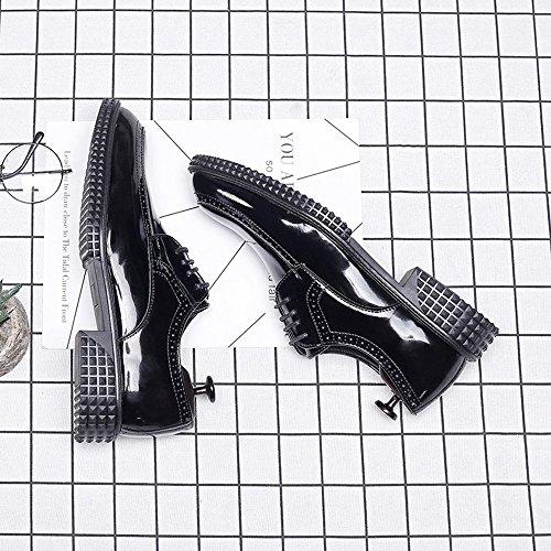 collo Nero EU Dimensione da da alto in uomo Scarpe uomo Nero 42 BMD e Shoes Color pelle alto con liscia sintetica in fodera pelle collo di stringate Scarpe xFgqFTXwnP