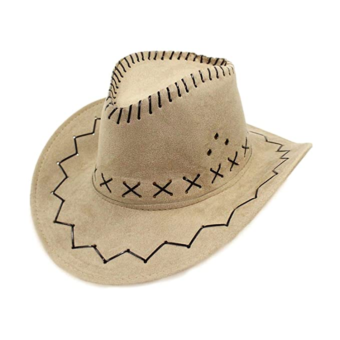 694e8f252 Summer-lavender Wide Brim Cowboy Hats Men Women Western Style Party ...