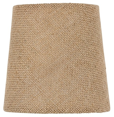 Beaded Mini Shade (Mini Chandelier Shade Clip On Small Lamp shade Burlap fabric)
