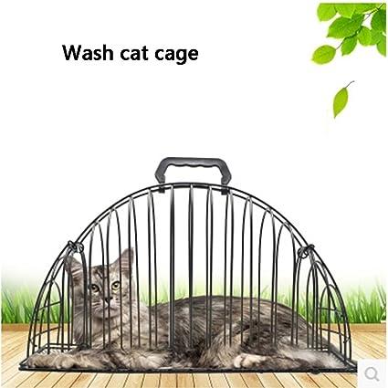 Jaulas para gatos Tómate un baño jaula Cat blows dry la ...