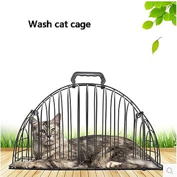 Jaulas para gatos Tómate un baño jaula Cat blows dry la jaula Suministros de baño para
