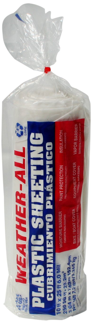 Trm Manufacturing 61025C Weatherall Visqueen Plastic Sheeting Drop Cloth 10' .. 2