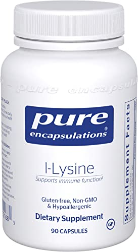 Pure Encapsulations – l-Lysine – Hypoallergenic Supplement Helps Maintain Healthy Arginine Levels and Immune Function – 90 Capsules