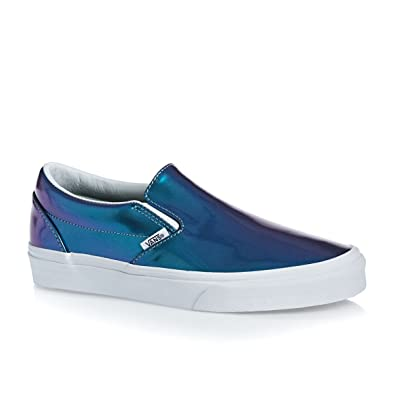 32a2dcfe6d90 Vans Womens Classic Slip-On (Patent Leather) Blue VN-0XG8EVW 4