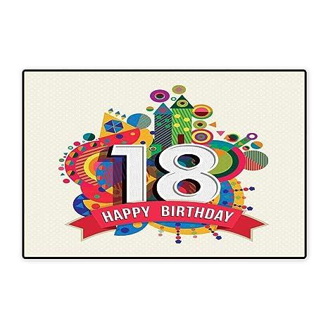 Amazon.com: Alfombrilla para puerta de 17 cumpleaños ...