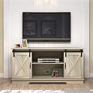 """Rainbow Sophia Forest Series Wooden TV Stand for TVs up to 65"""" (White Oak)"""