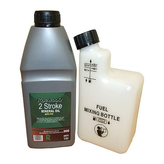 Botella de 1 L de aceite de 2 tiempos y mezcla de ...