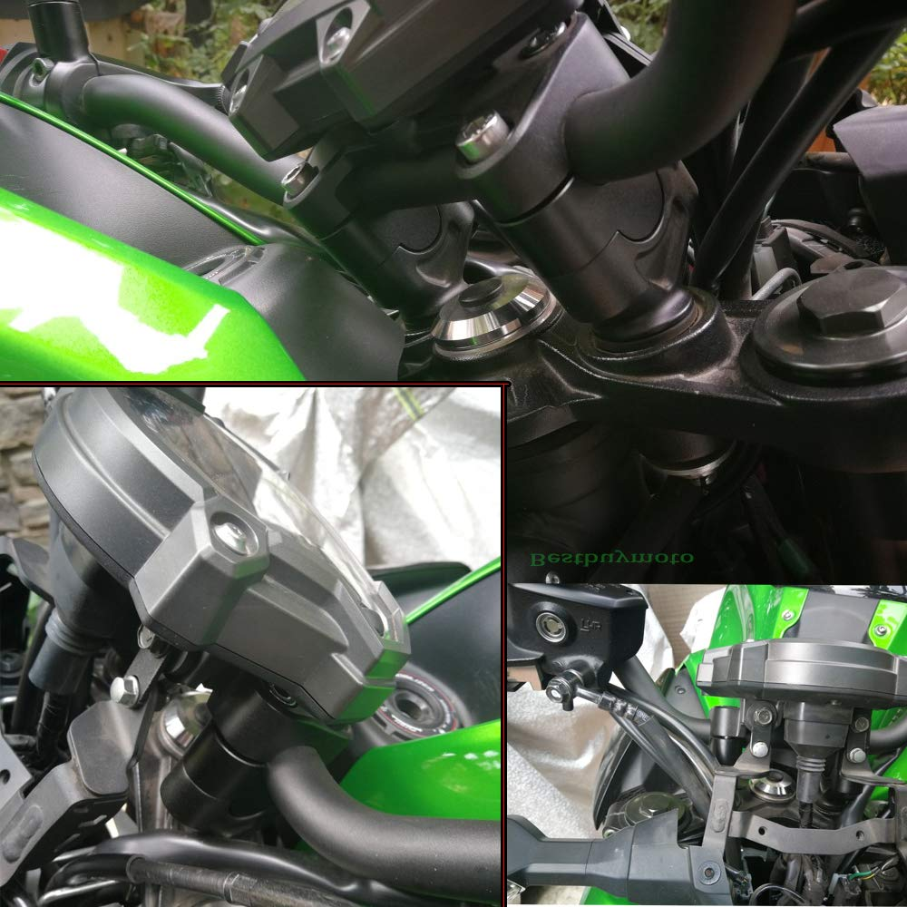 Black For KAWASAKI Z650 Z 650 2017 2018 Motorcycle CNC Handlebar Risers Height Up Adapters