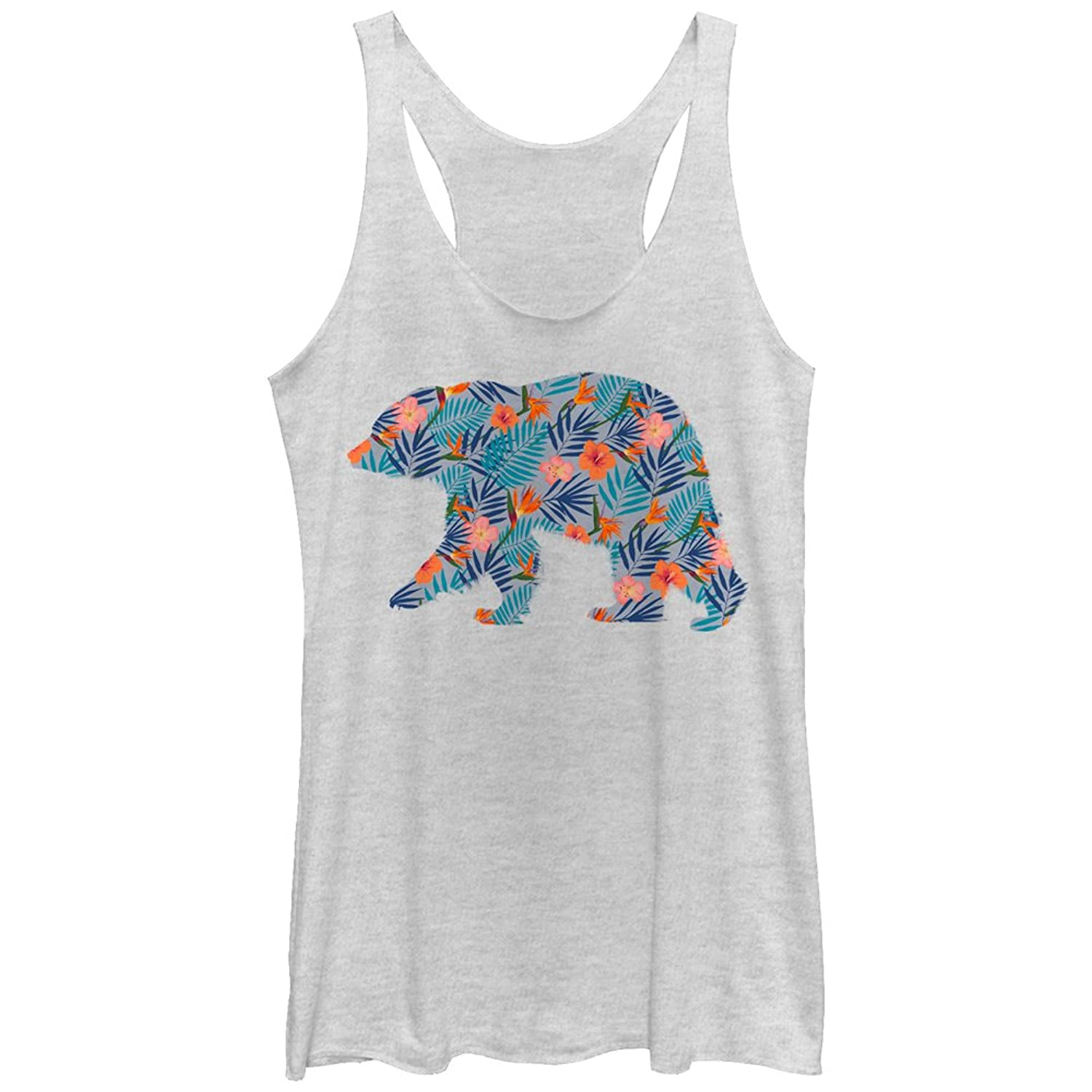 Lost Gods Hawaiian Print Bear Womens Graphic Racerback Tank