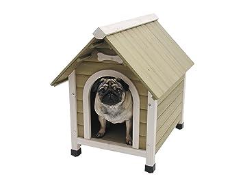 Nobby caseta de madera con techo inclinado para perro: Amazon.es: Productos para mascotas