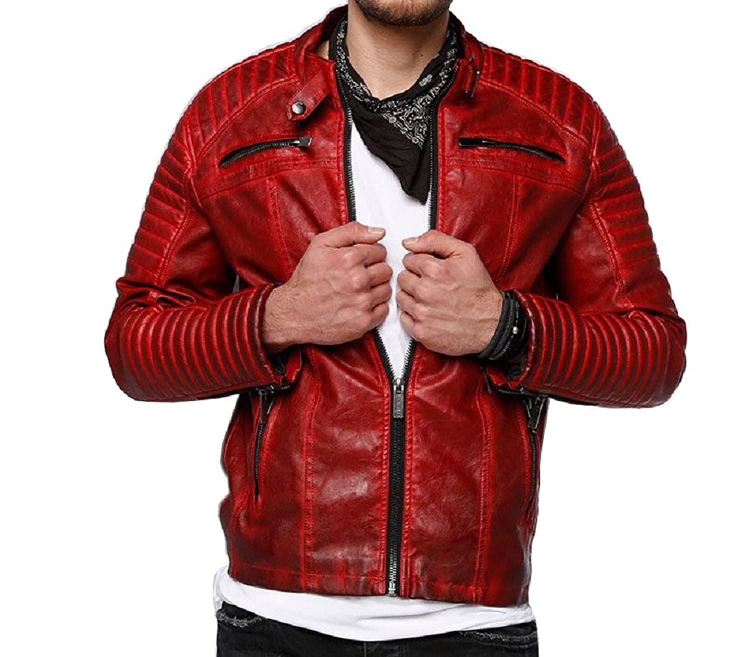 Red Bridge Arif Men's Leather Jacket