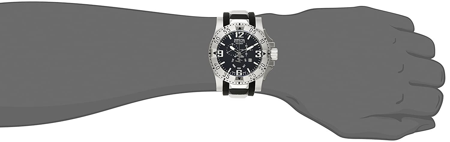 Amazon.com: Invicta Mens 18202 Excursion Stainless Steel Watch With Black PU Band: Watches