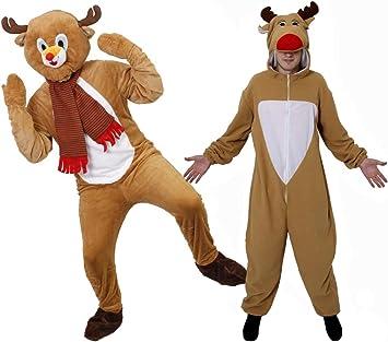 Disfraz de reno adultos disfraz de Navidad vestido Mono Ropa de ...