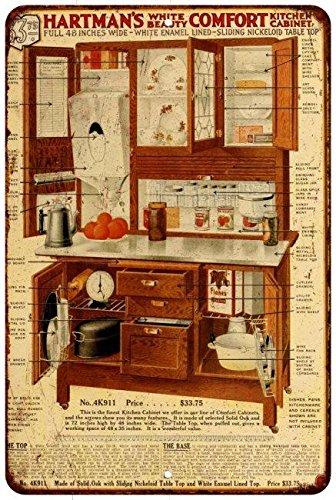 Hartman Furniture Hoosier Cabinet Vintage Look Reproducti...