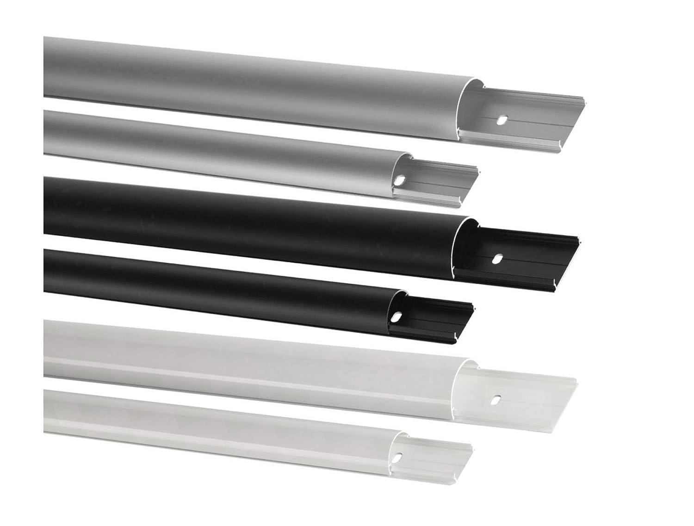13,27 EUR/m) Aluminium Kabelkanal Rund silber eloxiert - Länge 150cm ...