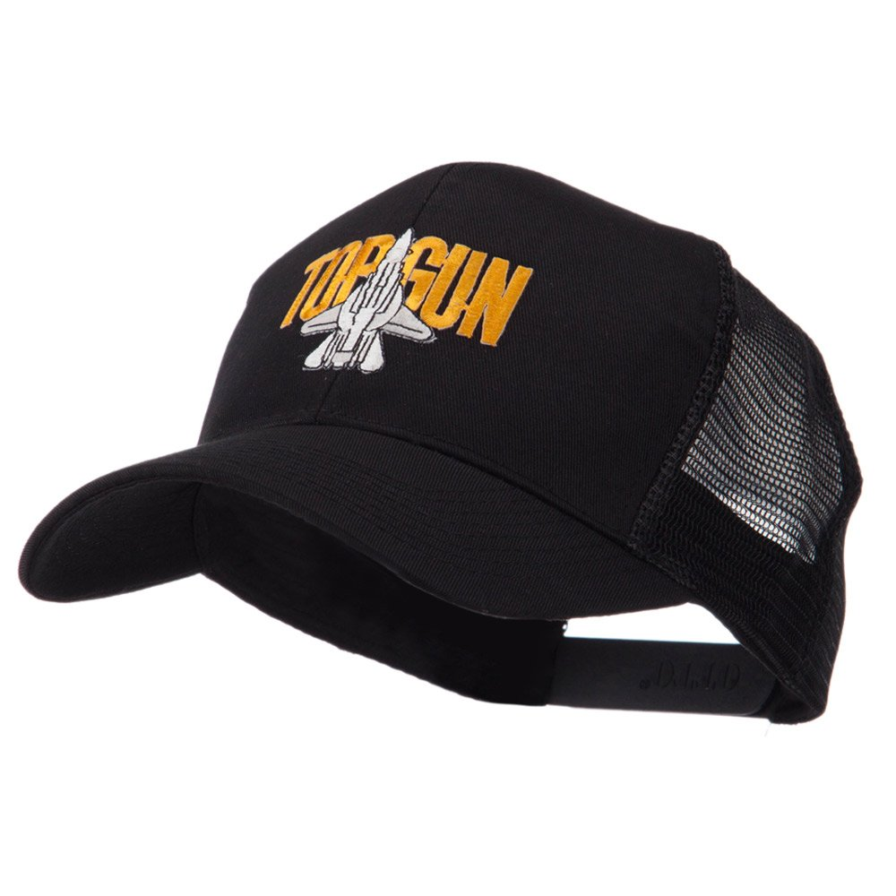 e4Hats.com Military Related Text Embroidered Patched Mesh Cap