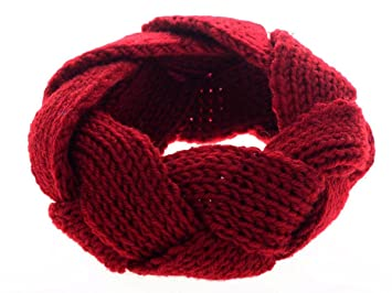 Zuoyety Damen Elastisch Häkeln Gestrickt Stirnband Twist Crochet