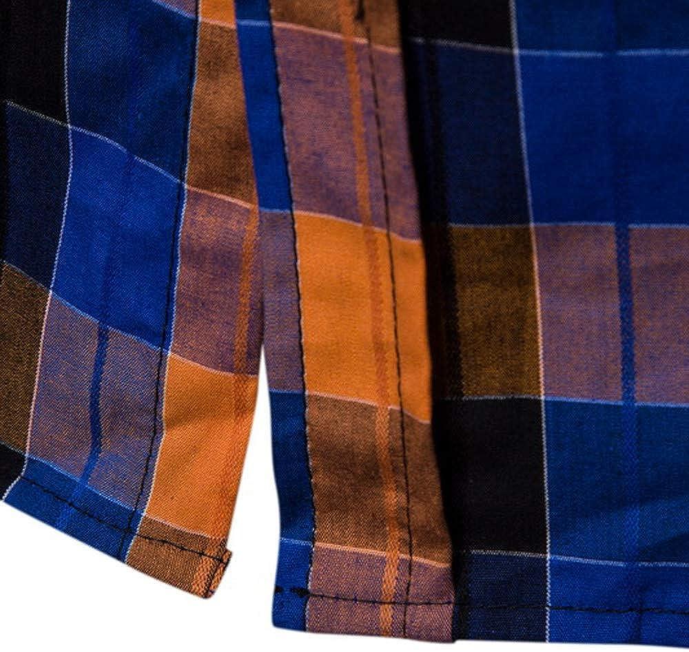 ITISME Homme Chemise /à Carreaux Manches Longues Repassage Facile/en Coton Slim Fit Casual