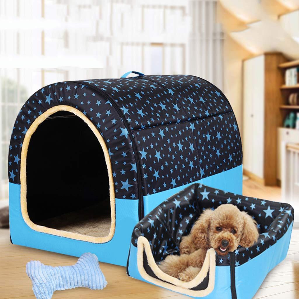 353228cm Pet nest large dog kennel winter warm washable pet nest golden hair medium dog four seasons dog kennel indoor dog house35  32  28cm
