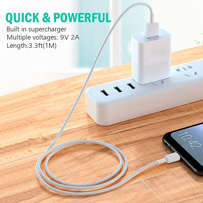Amazon.com: Huawei 9V2A Quick Charge Travel Charger with Type C Cable for Huawei and Android Device with Original Retail Packaging: Cell Phones & ...