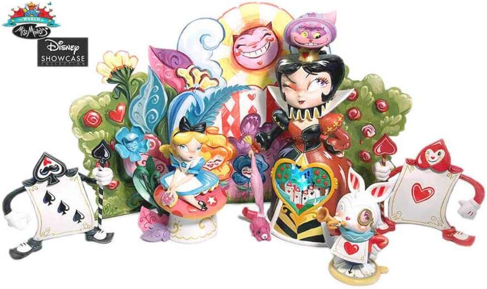 "Enesco World of Miss Mindy Disney ""Alice in Wonderland"" -Edition Set Stone Resin Figurine, Multicolor"