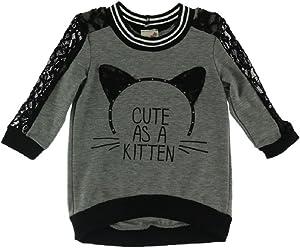 edc6187be9e7 Lily Bleu Girls Kitten Lace and Knit Top