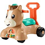 Fisher-Price GJW90 Walk Bounce & Ride Pony, Infant to Toddler Musical Walker and Ride-on Toy