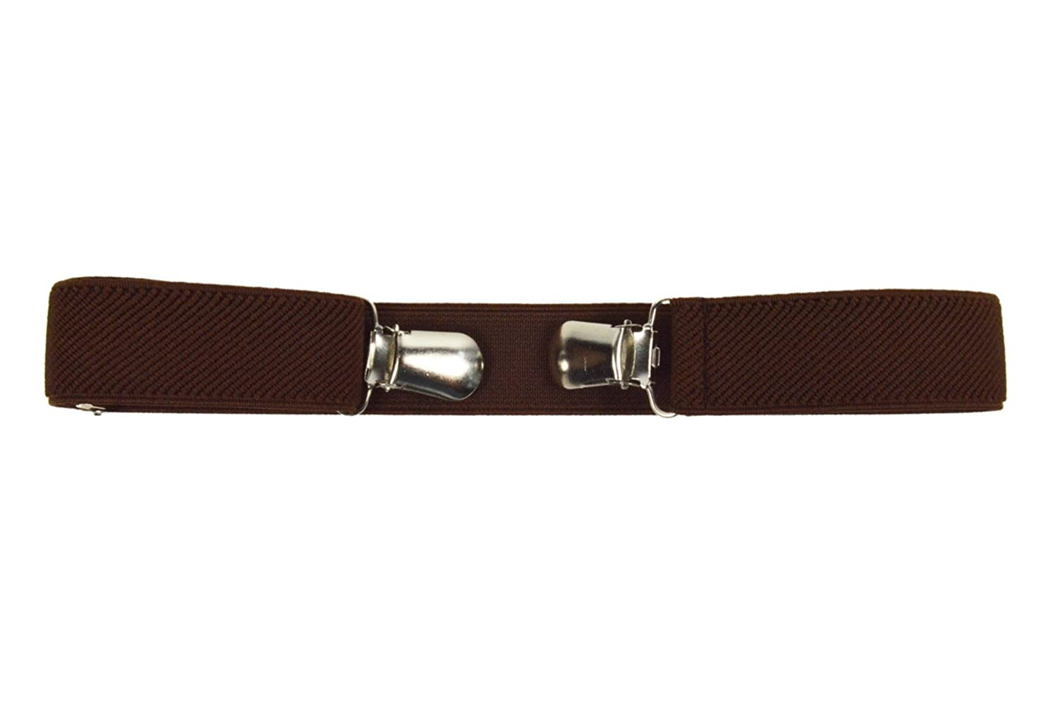 Childrens 1-4 Years Buckle-Free Fully Adjustable Stretch Clip Belt KIDSBELTN-brown