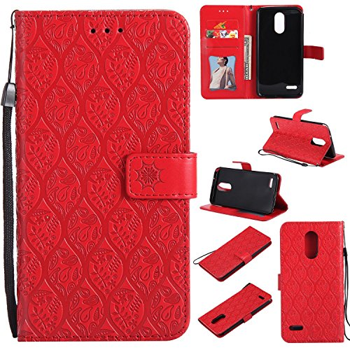 - LG Stylo 3 Wallet Case,Spritech PU Leather Mandala Rattan Floral Flower Embossed Folio Flip Protective Cover with Credit Card Holder Handstrap Kickstand Magnetic Closures for LG Stylo 3 Plus/LG LS777