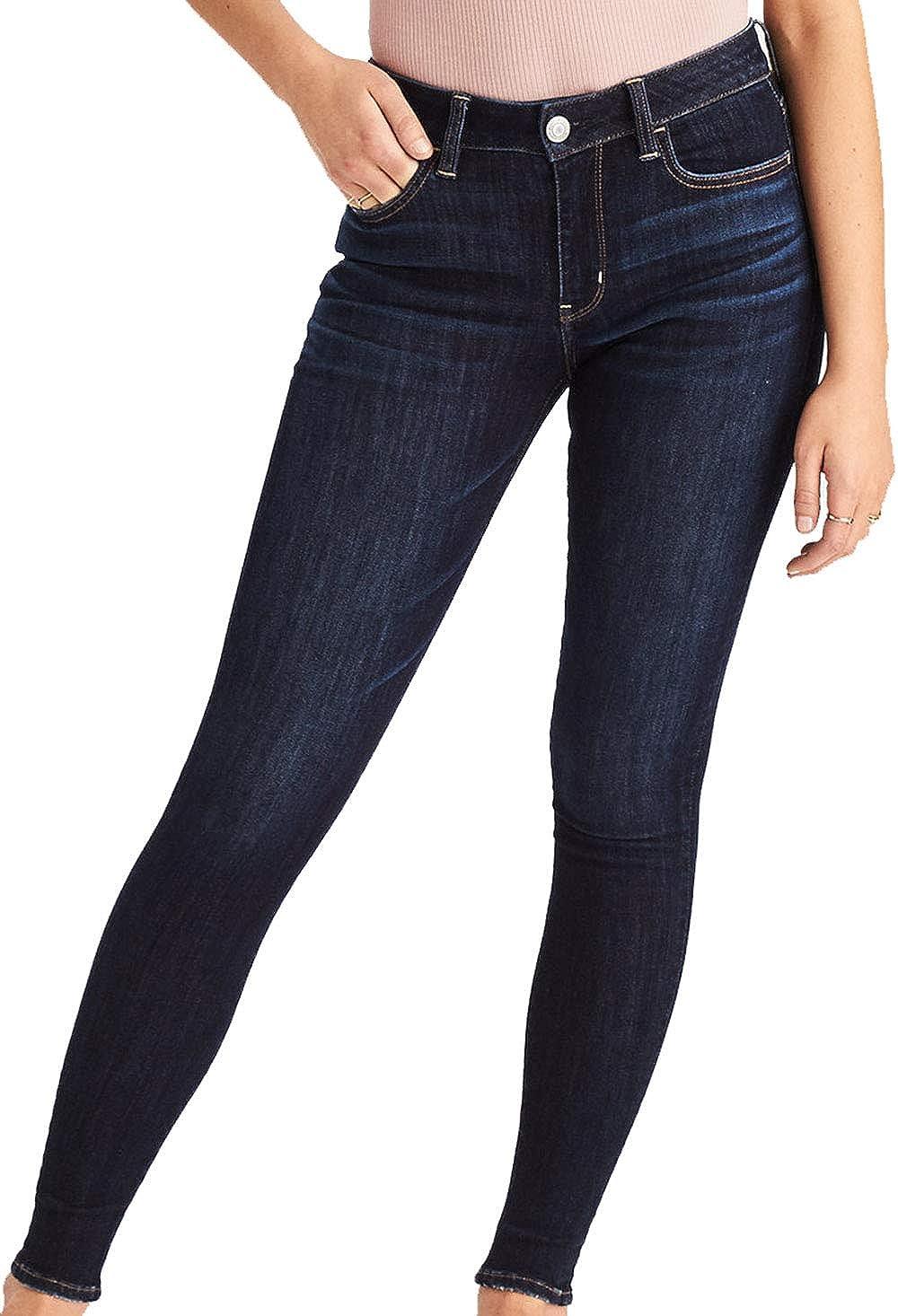 Amazon Com American Eagle Women S 04331132 Ne X T Level Stretch High Waisted Jegging Deep Sea Blue 0r Clothing