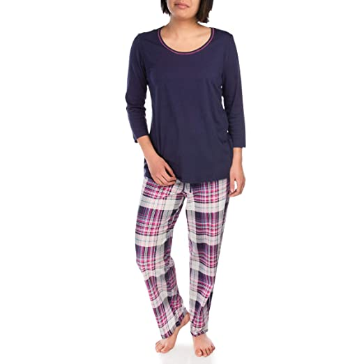 641351d09b Jockey (2 Piece Soft Pajama Set for Women Cotton Set 3 4 Sleeve Top Bottom  Ladies PJs for Teen Girls Sleepwear at Amazon Women s Clothing store