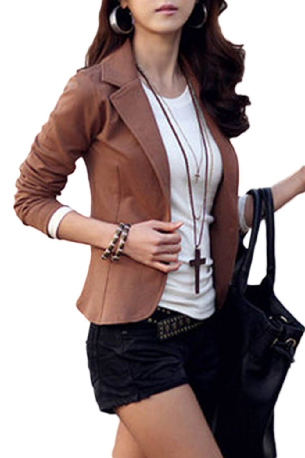 Womens OL Blazer Tops Lapel Business Outfit Slim Jackets CAWM133