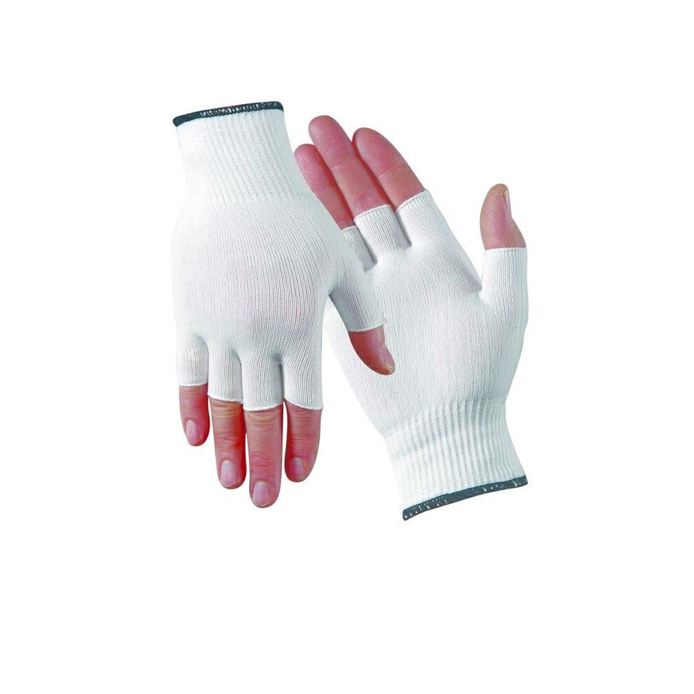 All-Day Reusable Protective Half-Finger Nylon Glove Liner - 1 Dozen Pair (Women's)