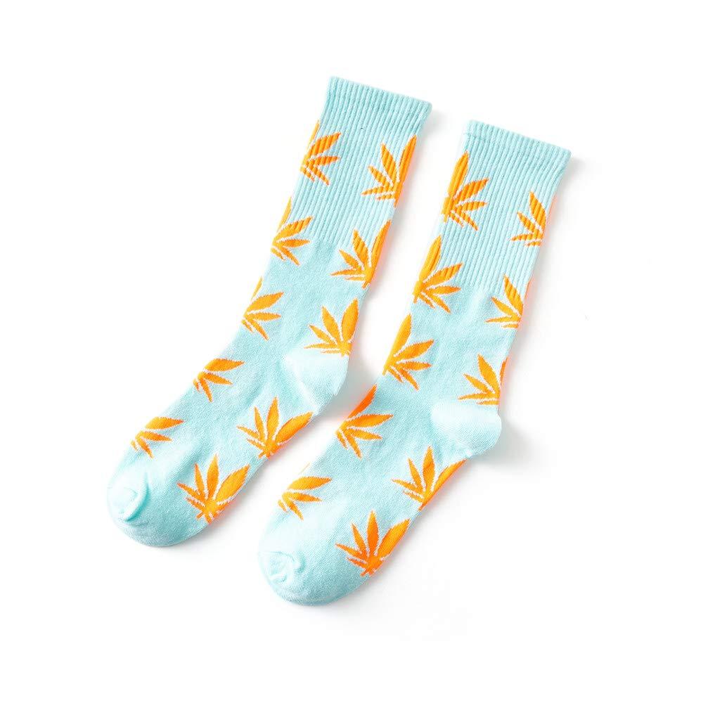 dise/ño de Hojas de Marihuana y Hojas de Marihuana KEKEDA Calcetines Unisex