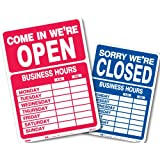 Headline Sign 9574 Double-Sided Open/Closed with Business Hours, 10.5-Inch by 14.5-Inch