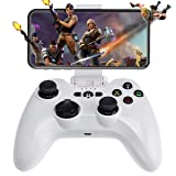 [MFi Certified] iOS Wireless Mobile Game Controller, Megadream Gampad Joystick Support for iPhone Xs, XR X, 8 Plus, 8, 7 Plus, 7 6S 6 5S 5, iPad, iPad Pro Air Mini, Apple TV - Direct Play (Color: White)