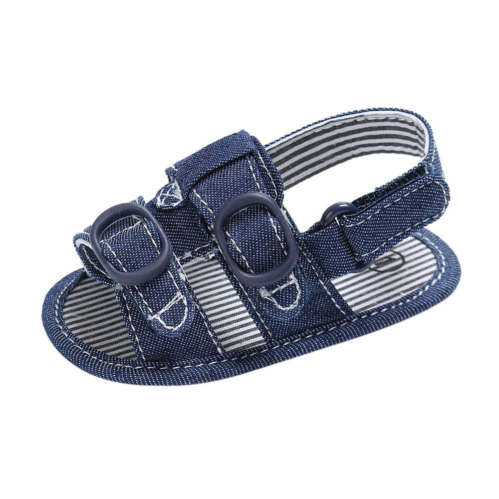 Tantisy ♣↭♣ Baby Shoes  Toddler Boys Cute Crib Shoes Soft Sole Shoes Denim Canvas Walking Shoes Non-Slip Sandals