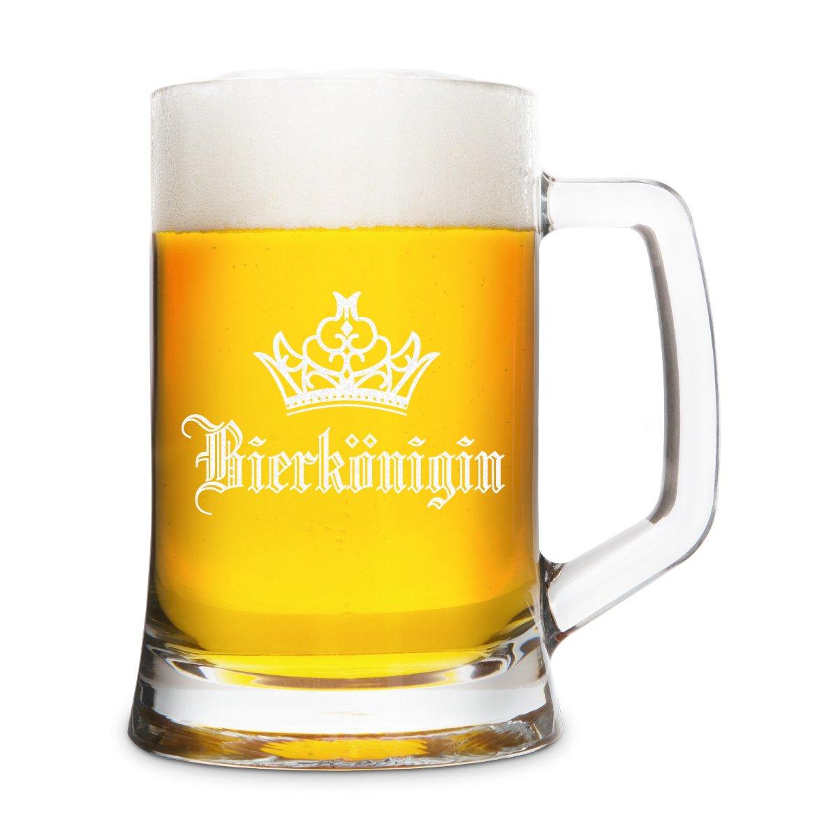 Bierk/önig KIXY Bierkrug von Leonardo Bierseidel Bierglas Geschenk Gravur 0,5 L