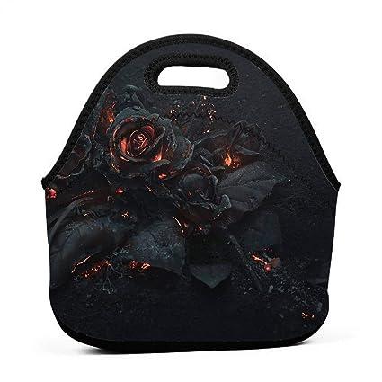 Amazon.com - Janeither Gothic Balck Rose Graphics Portable ...