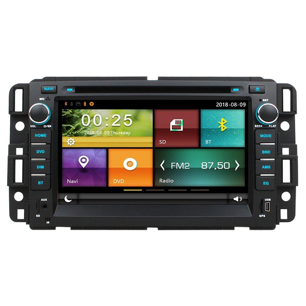 Maxtrons Car DVD GPS Navigation Stereo Headunit Radio for Chevrolet Chevy  Tahoe Avalanche Suburban Silverado Impala Ma HHR 3500 GMC Acadia Yukon