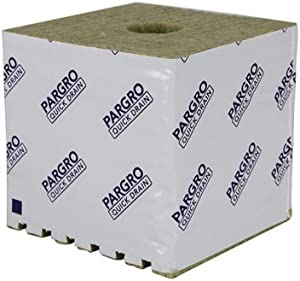 Grodan Pargro Quick Drain Biggie Block 6 by 6 by 6 Inch with Hole, Case of 64