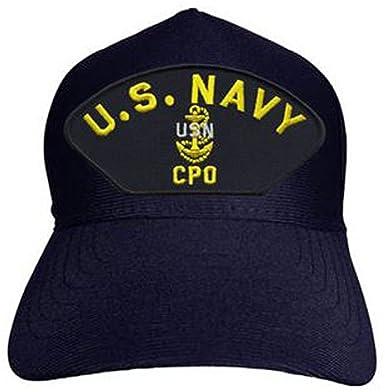 5d8e3e560aa U.S. Navy Chief Petty Officer Hat   USN CPO w  Anchor Baseball Cap 92523