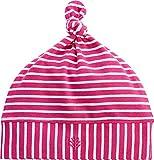 Coolibar UPF 50+ Baby Beanie Hat - Sun Protective (0-6 Months- Magenta/White Stripe)