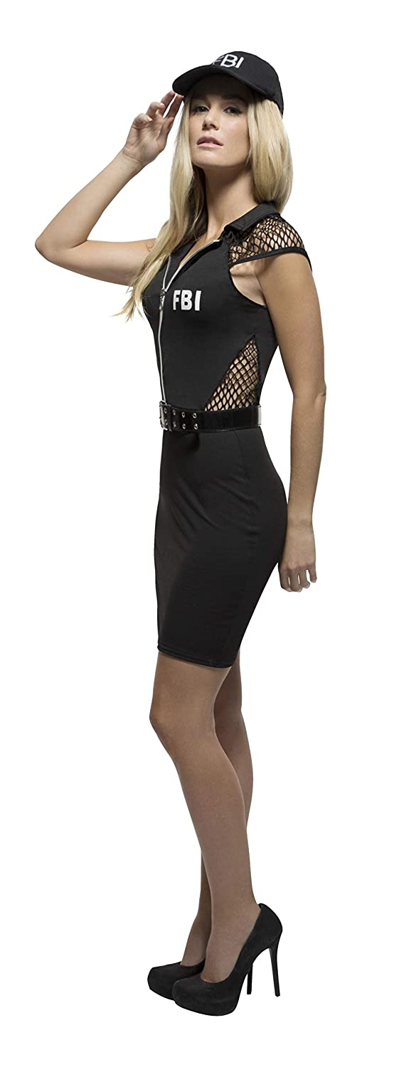 4e5b0956fb Amazon.com: Smiffy's Fever Women's FBI Costume: Clothing