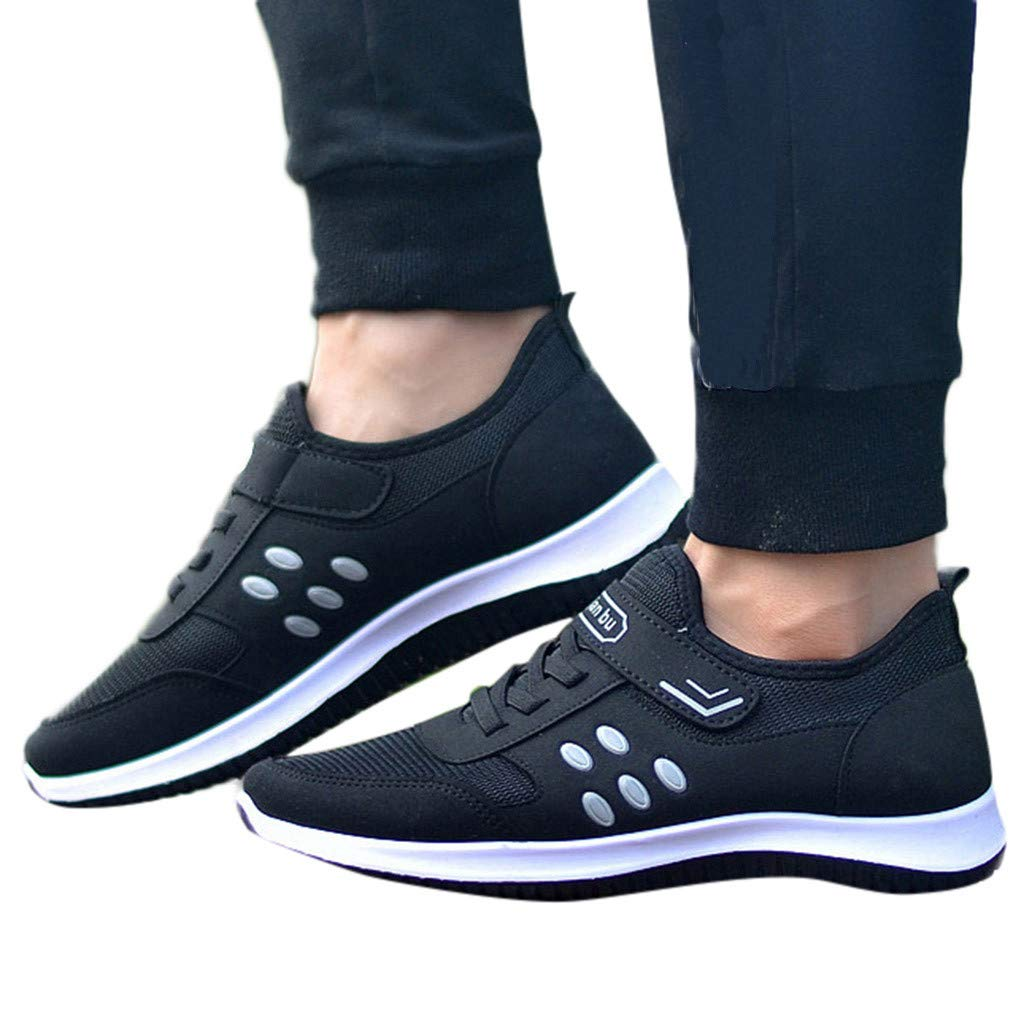 NUWFOR Men Outdoor Mesh Casual Solid Color Sport Shoes Runing Breathable Shoes Sneakers(Black,6 M US) by NUWFOR (Image #3)