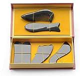 EQLEF® Buffalo Horn Gua Sha Gua Sha Conseil outil de massage (cinq pièces)