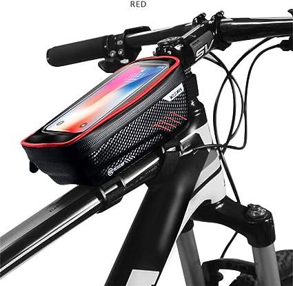 Bicycle Handlebar Frame Pannier Front Top Tube EVA Bag Waterproof Mobile phone