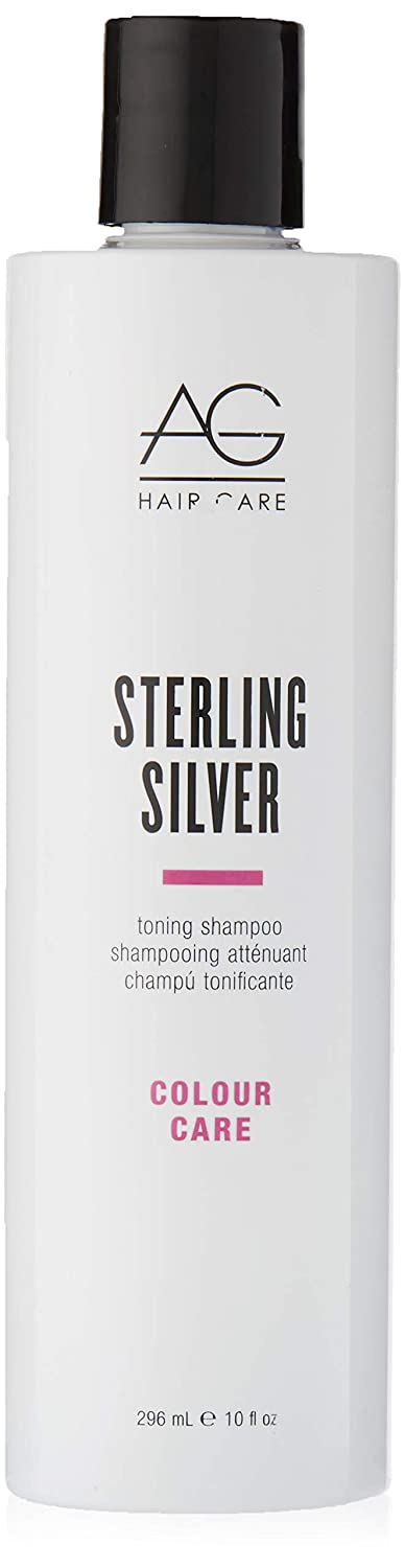 AG Hair Colour Care Sterling Silver Toning Shampoo, 10 Fl Oz